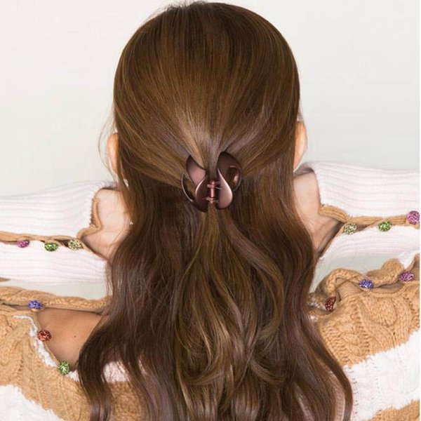 Korean Style Women Ladies Hair Clips For Girls Hair Claw Acrylic Barrettes Crab Clamp Hair Accessories Vintage Clip Irls