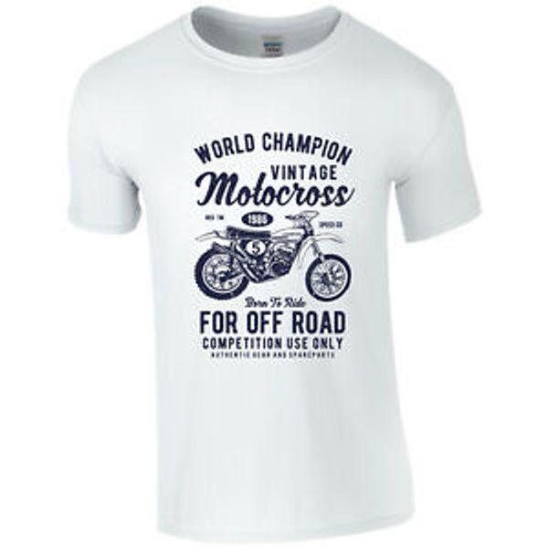 Motocross motocicleta camiseta camiseta excelente calidad de impresión