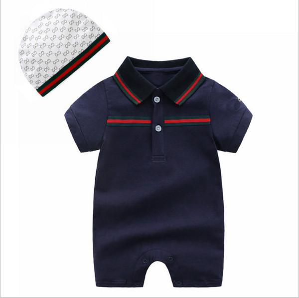 Top marque coton% costume bébé garçons filles automne barboteuses Enfants pyjamas bébé barboteuses bébé nouveau-né vêtements à manches courtes sous-vêtements coco