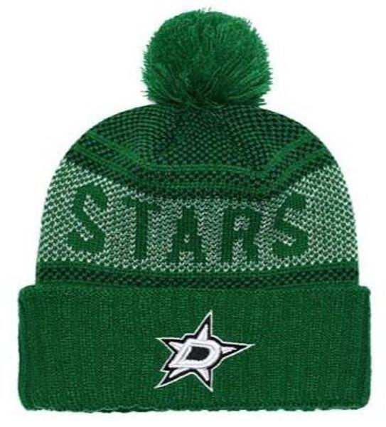 Descuento Sport Knit hat Stars Beanie Football Sideline Clima frío Gorros de moda Winter Warm Lana de punto Skull Cap
