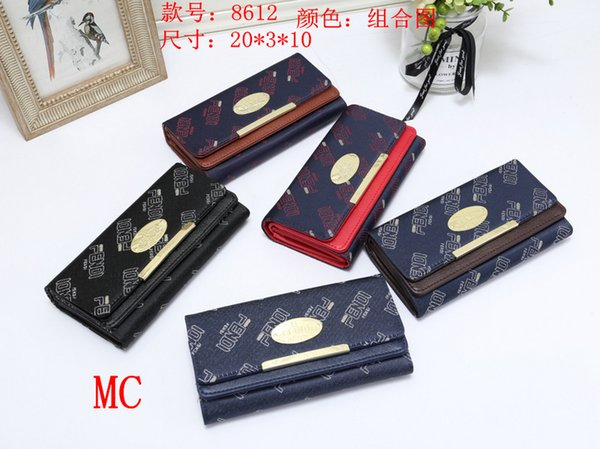 2019 Fashion Wholesale-long Money Wallet Excellent quality Overlay type lady Hand Bag Purse Style High and simple and generous