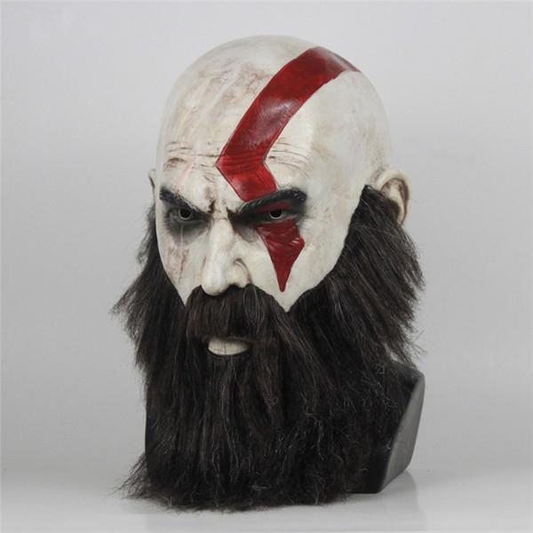Gioco God Of War Mask Cosplay Kratos Maschera in lattice Halloween Spaventoso Horror Masquerade Decorazioni per feste Puntelli per feste DropShipping