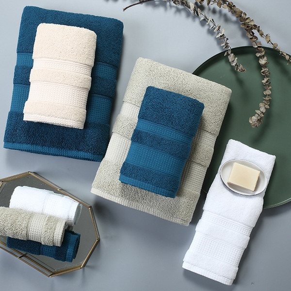 Large Thick Towel Set Solid Color 100% Cotton Bath Towel Bathroom Hand Face Shower Towels For Adults Home Hotel toalla de ducha