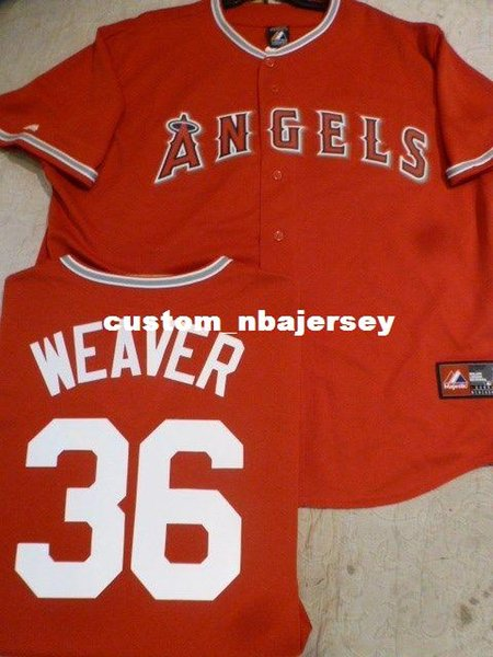 Cheap custom Anaheim JERED WEAVER Sewn Baseball JERSEY RED Stitched Customize any name number MEN WOMEN BASEBALL JERSEY XS-5XL