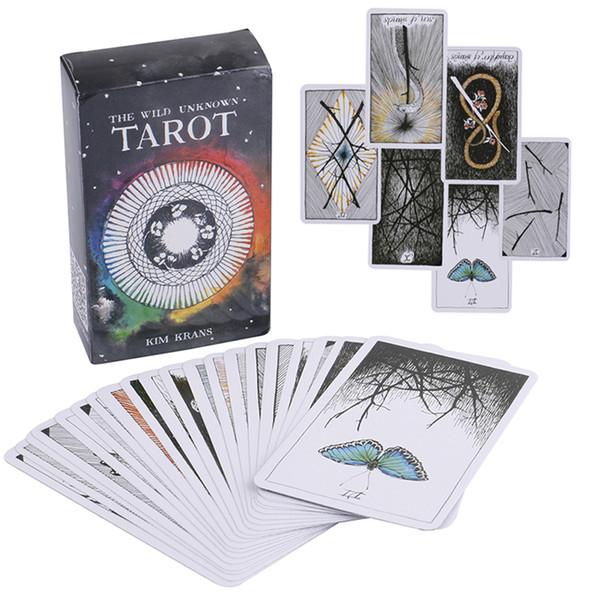 78 Pçs / set Selvagem Cartas de Tarô Desconhecido Animal Misterioso Totem Tarot Guidance Board Game Tarot Deck Cartões de Jogo de Tabuleiro KSS343
