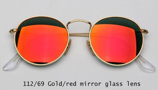 112/69 gold / rot Spiegellinse