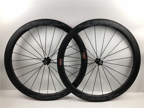 50mm road racing carbon wheelset SUPER LIGHT 1580g 700c tubular Clincher aero carbone bike wheels front 20 rear 24 holes