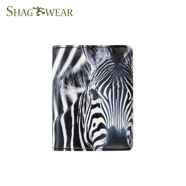 Shag Wear Hand Made Sketch Zebra Pattern Small Clutch Wallet Girl's Short Wallet Women Coin Purse Customized Design Personalized Snap Wallet