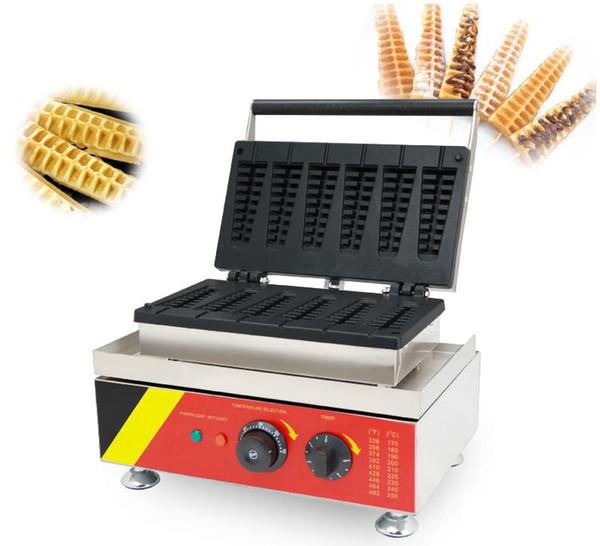 Free shipping 110v 220v Commercial Electric Waffle, Commercial Electric lolly waffle stick maker, ice cream waffle baker