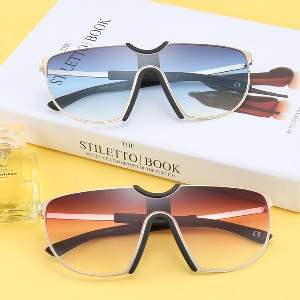 Frame Moda siameses Sunglasses Brand Design Proteção UV400 Homens Mulheres Sunglasses Driving Alloy Óculos de Luxo Sunglasses siameses
