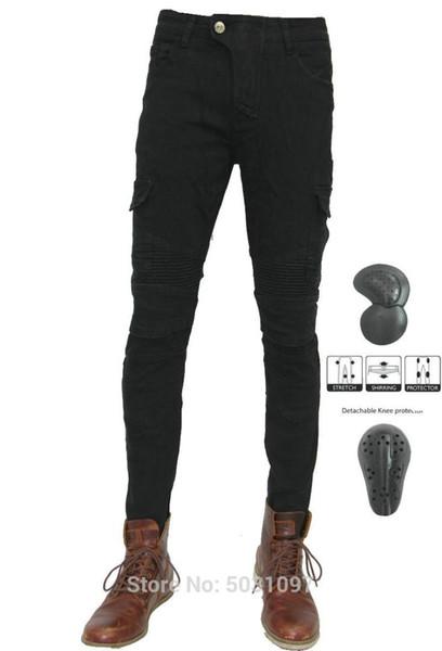 Бесплатная доставка Motorpool черные мотоциклетные джинсы волеро прямые черные брюки шесть карманов мото спортивный досуг брюки джинсы