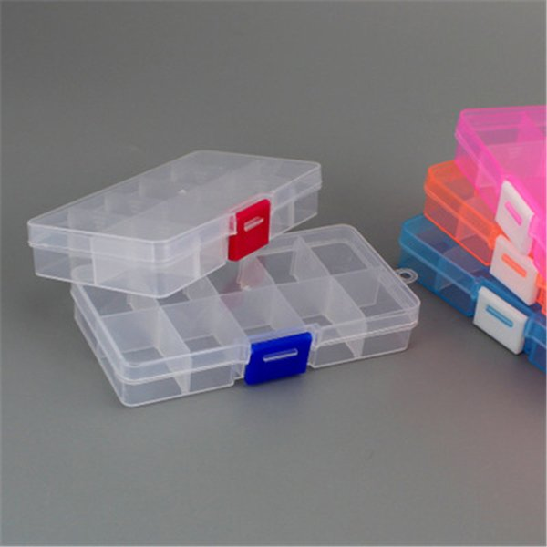 Practical Adjustable 10 Grids Compartment Plastic Storage Box Jewelry Earring Bead Screw Holder Case Display Organizer