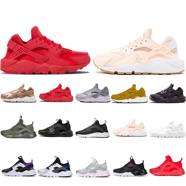 nike air max huarache 1.0 mujer hombre zapatos para correr Triple Blanco Negro rojo rosa estrella lujo hombres entrenadores deportivos diseñadores zapatos
