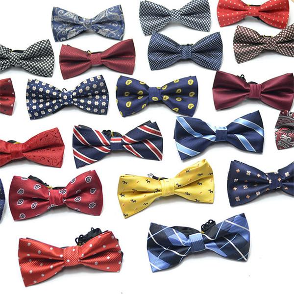 İş Erkekler Jakar Bow Kravatlar Düğün Damat sağdıç papyon kravatlar Çok renkli ücretsiz nakliye için Bow Kravatlar