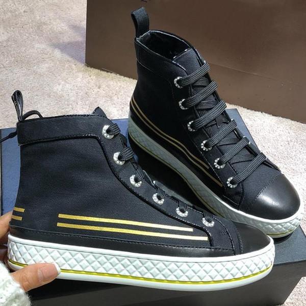 Top Damen Leinwand High Luxus Großhandel Lammfell Sneaker Herren Stoff Atmungsaktive Hochwertige Trainer Designer Mode Schuhe Streifen Stiefel Schuhe dxQeBCroW