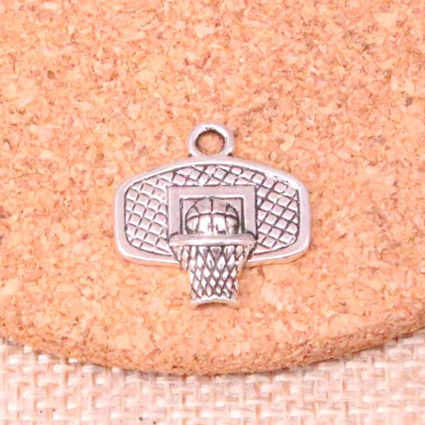 89 pcs Encantos cesta de basquete Antigo Banhado A Prata Pingentes Fit Jóias Fazendo Achados Acessórios 20 * 19mm
