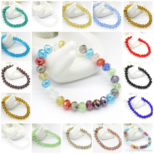 Charm Bracelets Faceted Crystal Bead Silver Plated Diamante Rhinestone Beaded Stretch Bracelet Bead Crystal Bracelets