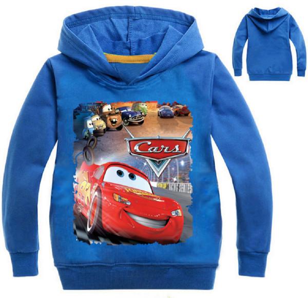 Ragazzi Cars Saetta McQueen con cappuccio bambino con cappuccio Pullover sweatershirt 2020 New Kids a maniche lunghe con cappuccio Top Abbigliamento