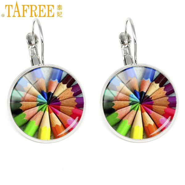 TAFREE new clip earrings a great teacher touches heart shapes future 2018 Teacher's Day gifts fashion Jewelry H331