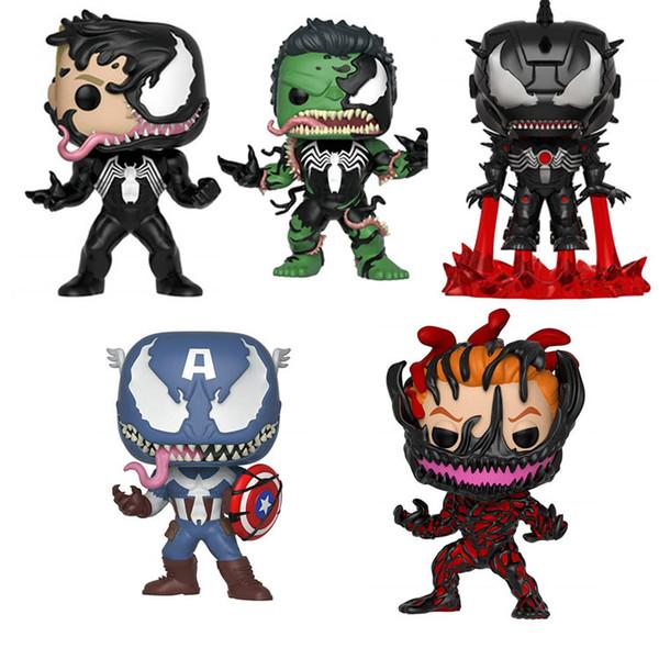 Funko Pop Venom Carnage Kaptan Amerika Iron Man Hulk Anime Şekil Sıcak Oyuncak Doğum Sıcak Satış Yeni Arrvial Sıcak Satış Ücretsiz Kargo