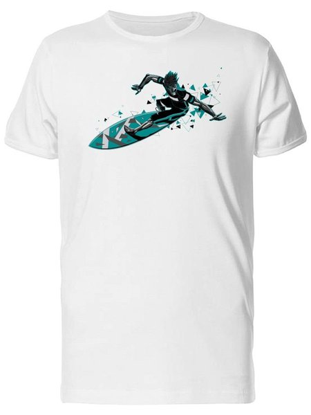 T-shirt Surfer With Triangle Trail pour Homme -Image by Fashion