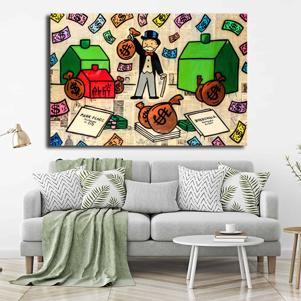 A Classic Food Fight Painting Alec Monopolyingly Art Canvas Poster Painting Wall Picture Print For Home For Living Bedroom Decoration