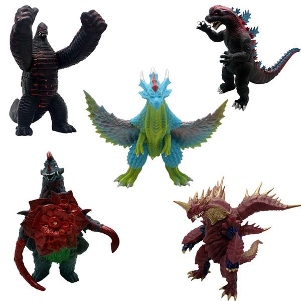 Vários Tipos Figura de Ação Filme Gojira Gomora Colecione Brinquedo Ultraman Monstro Superman Bonecas Black King Robelag