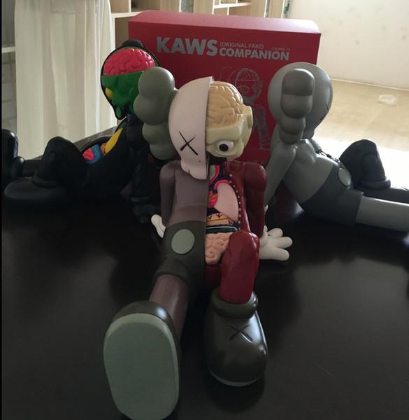 Niños Modelo de moda Moda Anatómica Plásticos Oso KAWS Modelo Juguetes Juguete hecho a mano de lujo para niños Niñas Adolescentes 2019 Explosión en venta