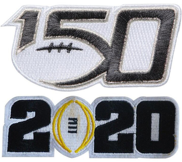 150TH & 2020 black number Patch
