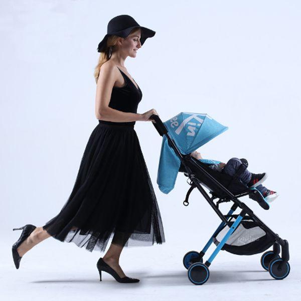 Baby Trolley Car Lightweight Folding Four Wheels Portable Pocket Umbrella Stroller Pram Pushchair Plane for Newborns Children