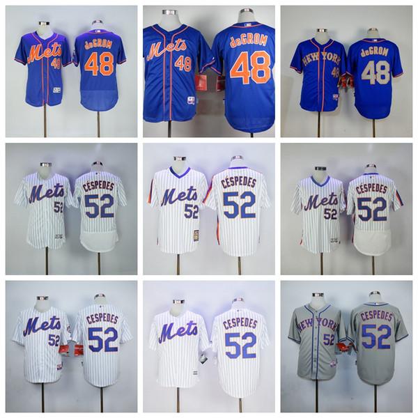 promo code 4de34 b1eb7 2019 2019 Top Quality New York Men'S Majestic Mets Jersey 48 Jacob DeGrom  52 Yoenis Cespedes 57 Johan Santana Stitched Baseball Jerseys From ...