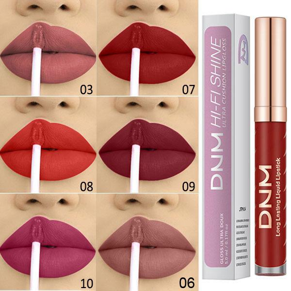 Marca 12 colori opaco antiaderente tazza filo tubo rossetti 5 ml trucco cosmetico lip gloss donne partito rossetto spedizione gratuita