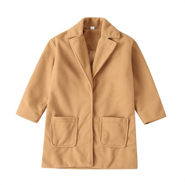 겨울 가을 유아 키즈 코트 아기 소년 따뜻한 모직 코트 외투 어린이 긴 소매 착실히 보내다 재킷
