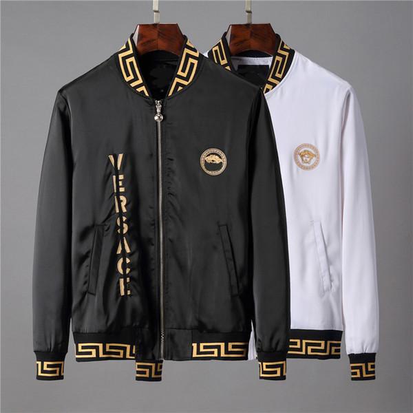 2019 yeni moda erkek tasarımcı ceket fermuar rüzgarlık uzun kollu erkek kaliteli Pamuk açık hava eğlence ceketler