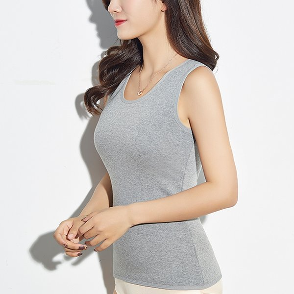 top popular 2019 Spring Sexy Camisole Tops WOMEN Bottoming Velvet Basic Tank tops Plus size Sleeveless Female's Vest Casual Clothes 2021