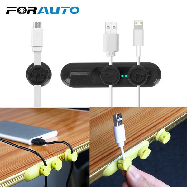 FORAUTO Clip per supporto per cavo magnetico per organizer per cavi per telefono cellulare USB Cuffie Linea Morsetto di chiusura Auto-styling