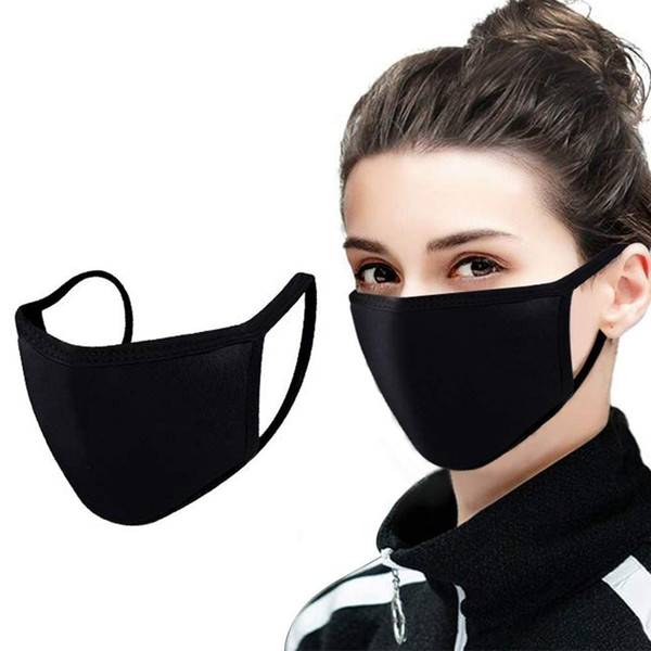 top popular 25 50 100 pcs Organic Labs Face PM2.5 Masks with Breathing 100% Cotton Washable Reusable Cloth Masks Protection from Dust Pollen Pet Dander 2020