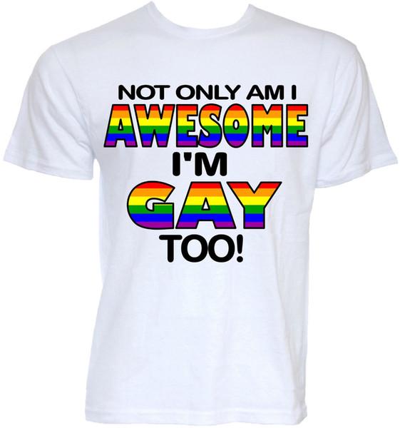 GAY PRIDE T-SHIRTS MENS FUNNY COOL NOVITÀ LGBT LESBIAN SLOGAN JOKE RUDE T-SHIRT maglietta con stampa personalizzata, hip hop divertente tee, mens tee shirts