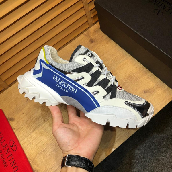 top popular 2019c luxury high quality men's casual shoes, fashion wild sports shoes, original packaging shoe box delivery, yardage: 38-45 2019