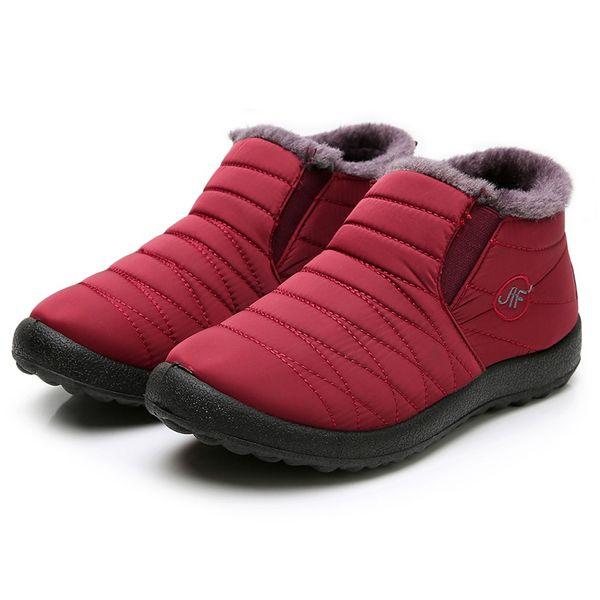 plus velvet winter warm snow boots woman shoes old beijing cotton shoes waterproof flat lazy woman zapatos de mujer drop