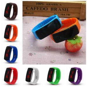 Спортивные светодиодные силиконовые цифровые часы конфеты желе цвета часы Мужчины Женщины ремень браслет наручные часы IIA274