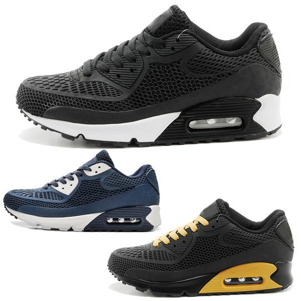 Designer men's shoes Nike vapormax women Haute Qualité Casual chaussures Coussin Alr 90 KPU Hommes Classique 90 casual Chaussures formateurs Baskets Homme Marche Sports Tennis