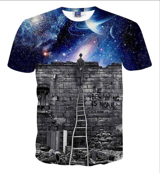 2019 High-end özelleştirme Tshirt Erkek T Shirt En Kaliteli Yeni Moda Gelgit Ayakkabı Baskılı Erkekler Tshirt Tişörtlerin Erkekler T-shirt Tops