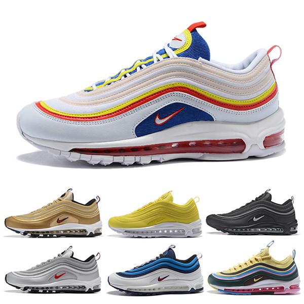 nike air max 97 airmax Barato Nuevo Hombres Plus Tn Zapatos de diseño Chaussures Homme Plus Mujeres Zapatillas de deporte Zapatiallas Hombre Tns Airs Cushion Run Shoe Eur36-46 Z