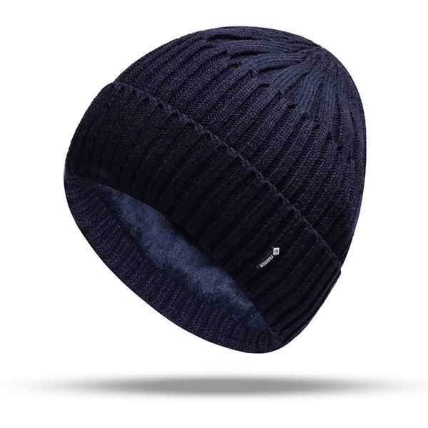 Double Layer Wool Knitted Hat Warmer Winter Hat for Men Women Skullies Beanies Warm Fleece Caps