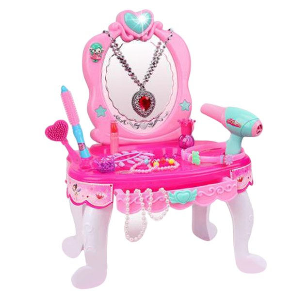 best selling Pretend Play Dressing Table with Sounds & Lights, ABS Plastic, Birthday   Christmas Gifts for Daughter, Granddaughter, Girls, Kids