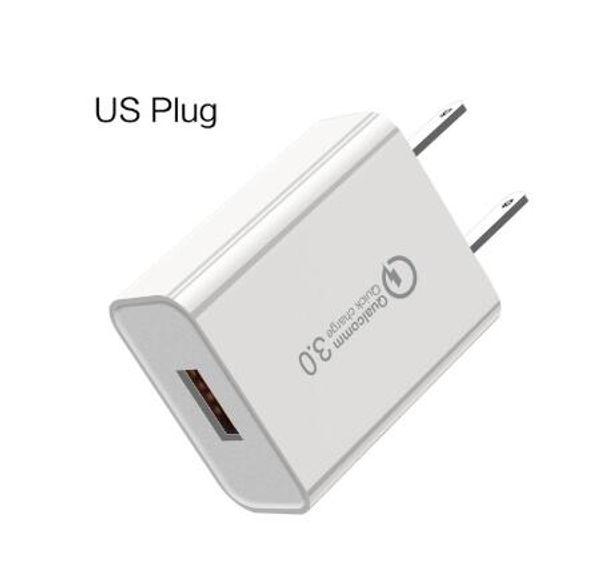 xiaomi 5 QC3.0 Cargador de pared rápido Adaptador Cargador rápido UE / EE. UU. Cargador USB rápido para iPhone Samsung Galaxy