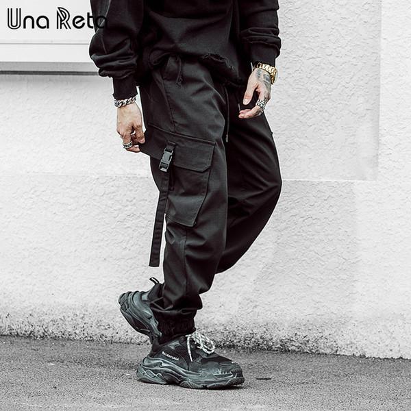 Venta al por mayor Pantalones de hombre 2019 Nueva moda Streetwear Joggers de cintura elástica Pantalones diseño de bolsillo Casual Pantalones Pantalones de chándal para hombre