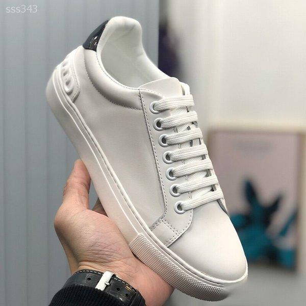 los zapatos de cuero de estilo para hombres de las mujeres de moda las zapatillas de deporte Más blanco Zapatos planos Zapatos ocasionales de los deportes para el tamaño de las zapatillas de deporte de los hombres de chicas 39-44