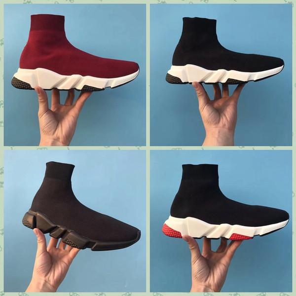 Balenciaga Speed Low Slip-On Hot New Designer Speed Trainer moda uomo donna Calzini nero blu rosso rosa Flat mens Sneakers Sneakers Runner Scarpe casual taglia 36-45